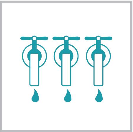 3 крана подачи питьевой воды