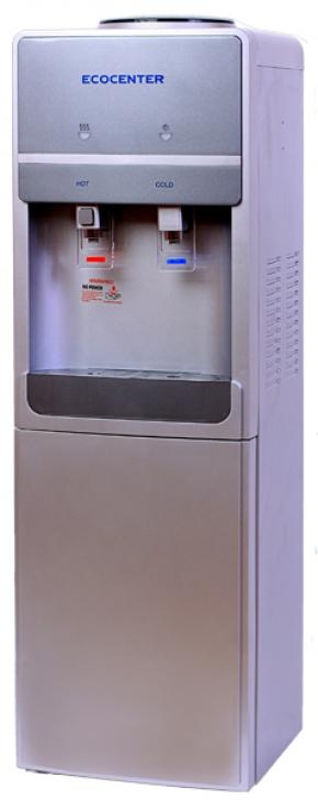 Кулер для воды Ecocenter S-F20C нагрев и компрессорное охлаждение, шкафчик