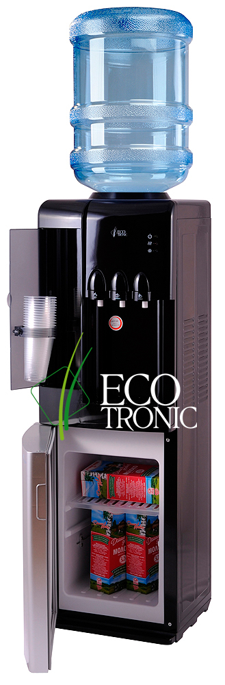Кулер Ecotronic C7-LCE black/silver с эл. охлаждением и шкафчиком
