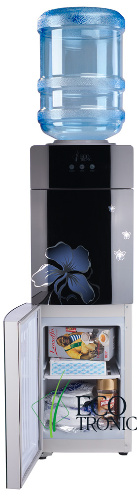 Кулер Ecotronic M21-LCE Black нагрев, охлаждение, шкафчик