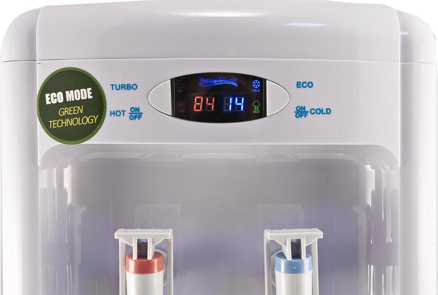 Кулер для воды Aqua Work 36-TDN-ST белый с индикатором температуры