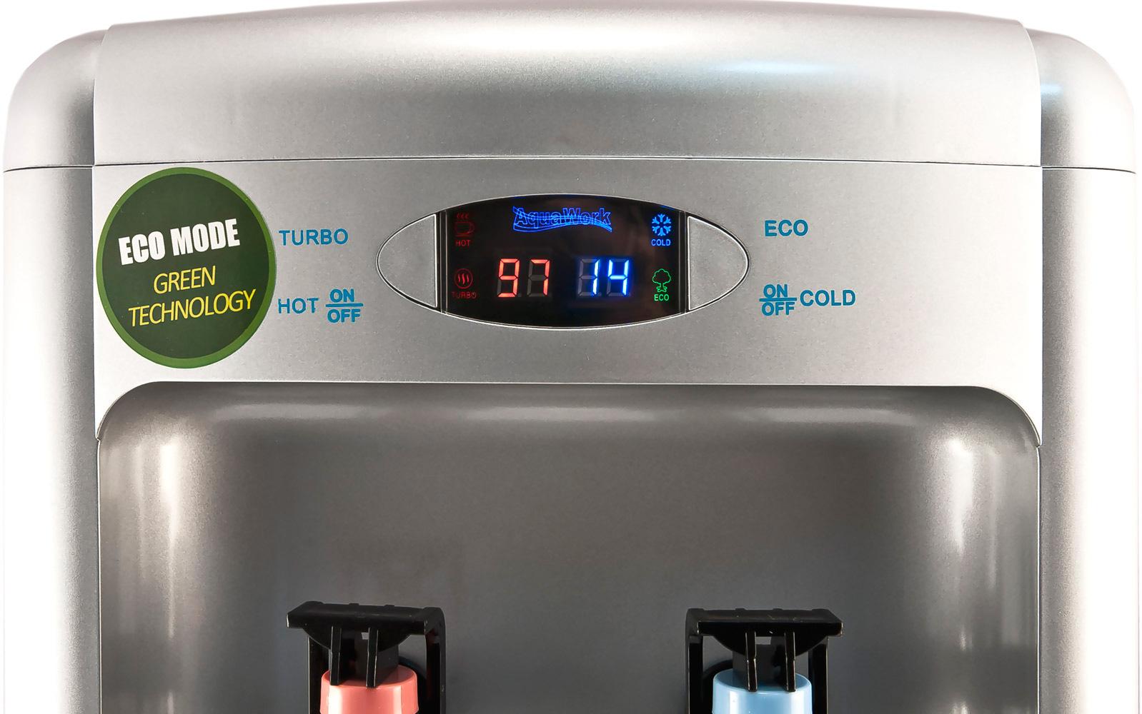 Кулер для воды Aqua Work 36-TDN-ST серебристый с индикатором температуры
