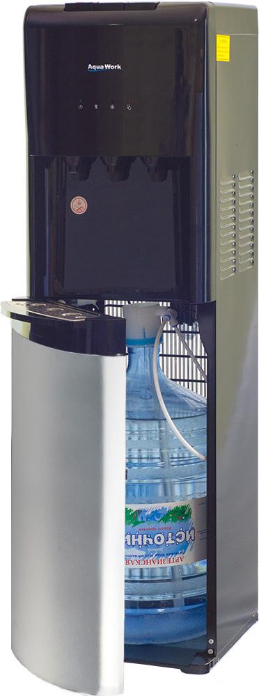Кулер для воды Aqua Work 1245-S серебристо/черный