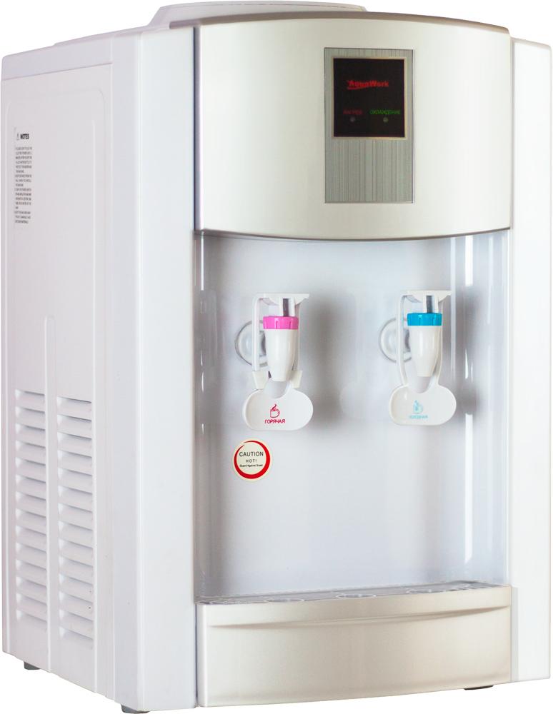 Кулер для воды Aqua Work 21-A белый/серебристый