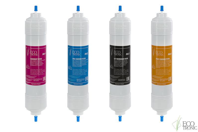 Комплект фильтров с UF мембраной Ecotronic (14 дюймов) Юж. Корея