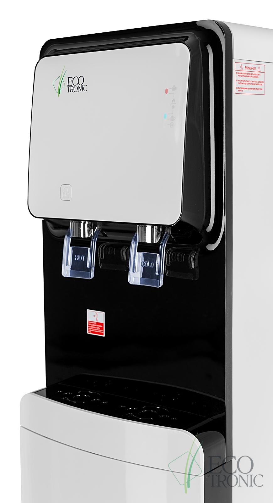 Кулер с нижней загрузкой бутыли Ecotronic M50-LXE white+black