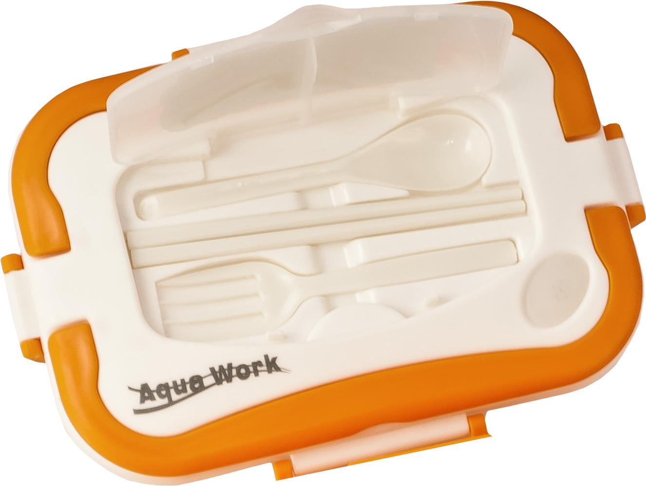 Автоланчбокс с подогревом Aqua Work 12В оранжевый