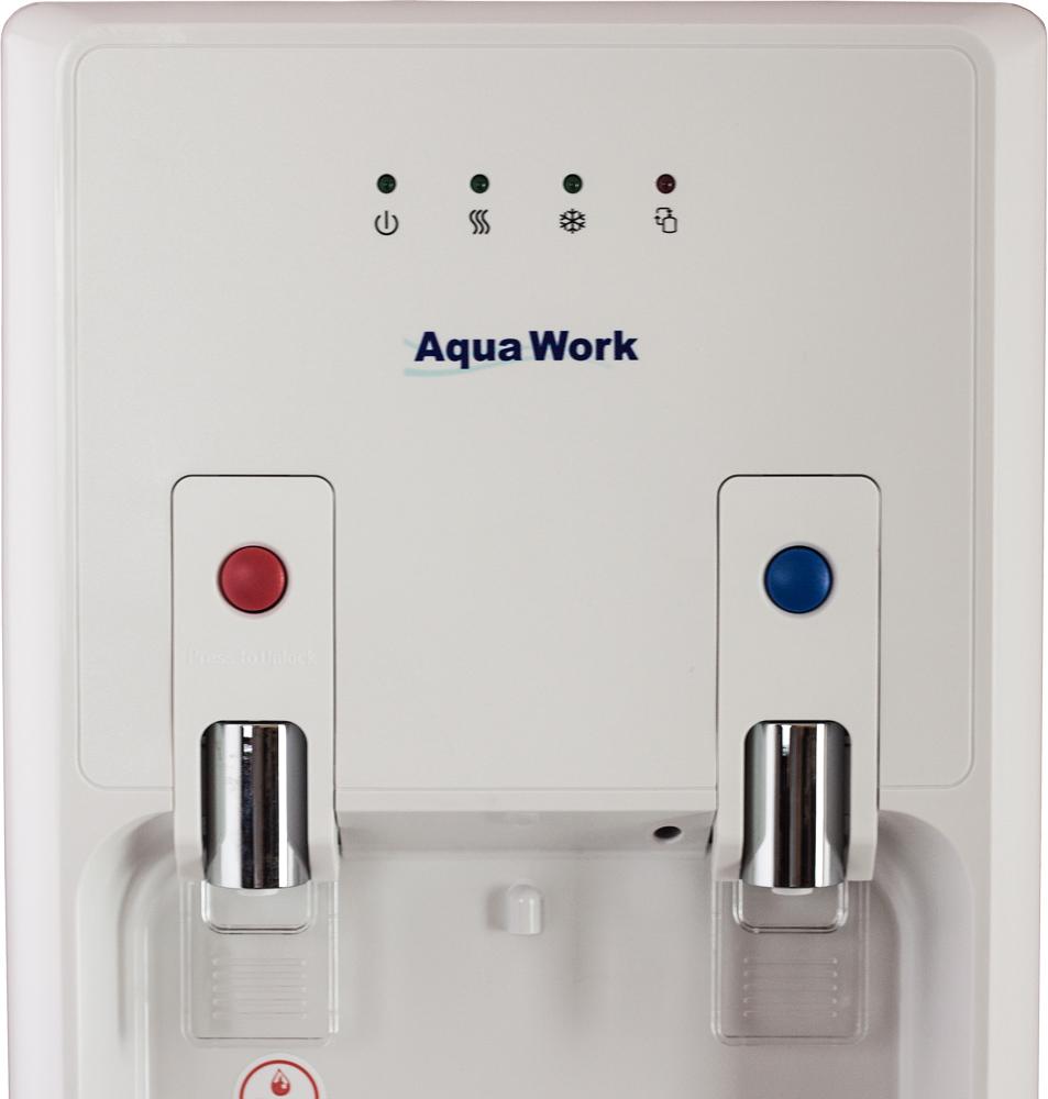 Кулер для воды Aqua Work 1447-S белый с нижней загрузкой бутыли