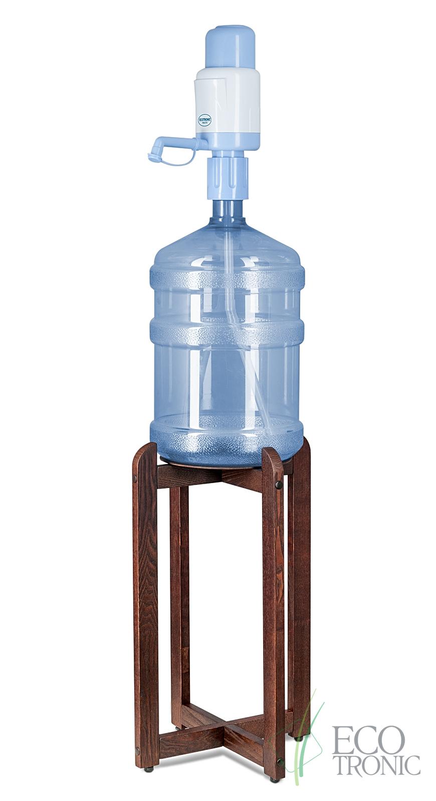 Подставка деревянная разборная под бутыль (Сосна. Цвет: Венге)