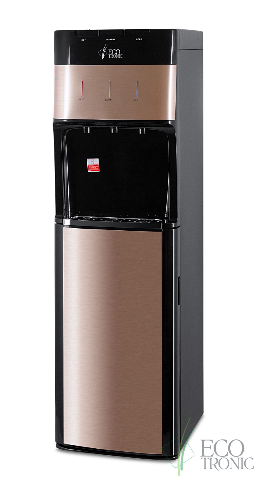 Кулер с нижней загрузкой бутыли Ecotronic M30-LXE black+gold