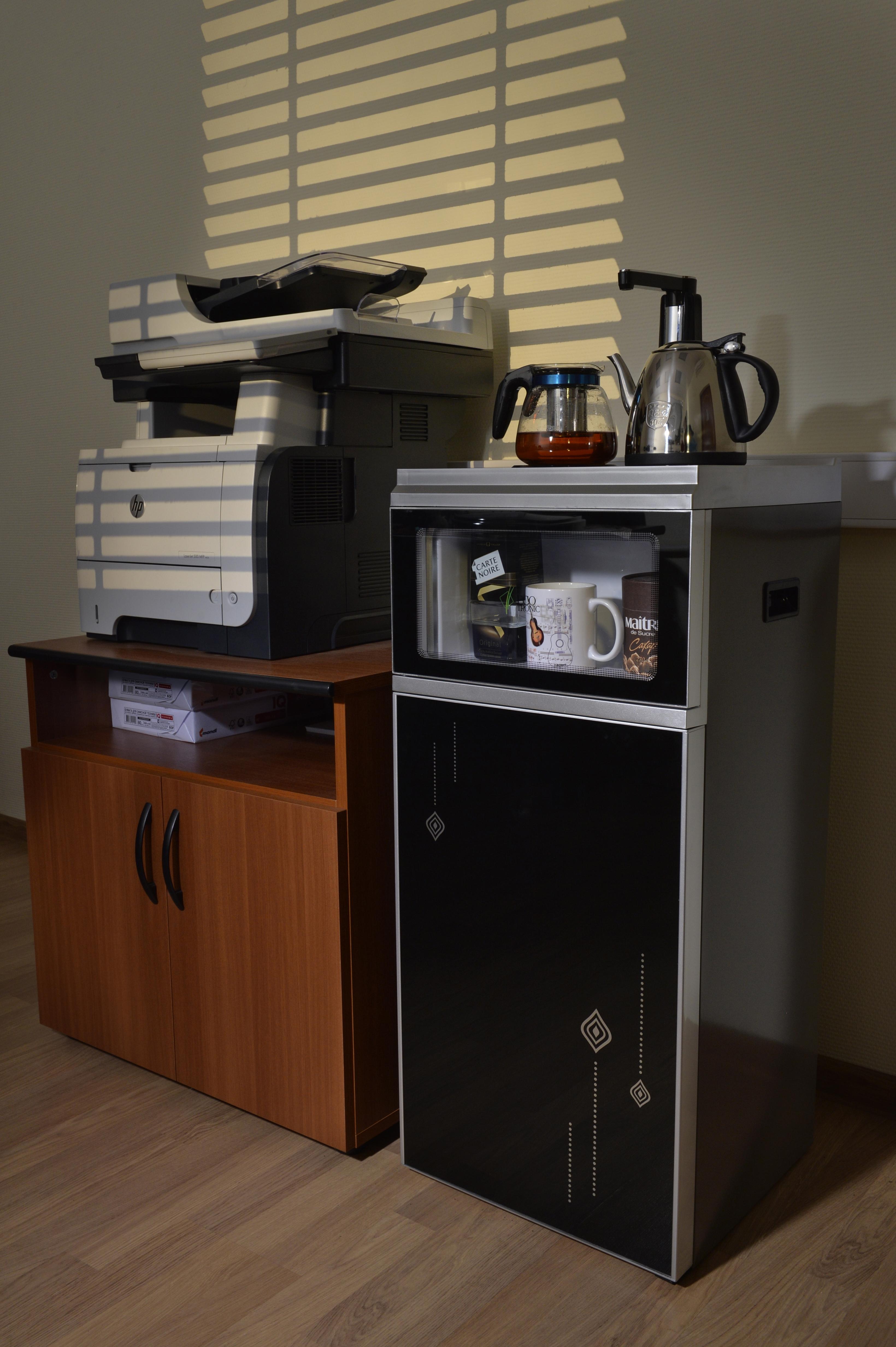 Кулер с чайным столиком Тиабар Ecotronic TB2-LE silver-black