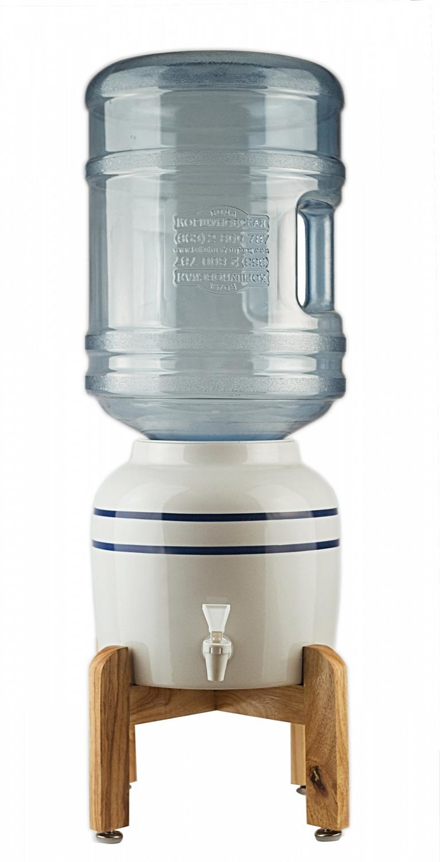 Водный диспенсер керамический с деревянной подставкой Ecocenter HSC-10L