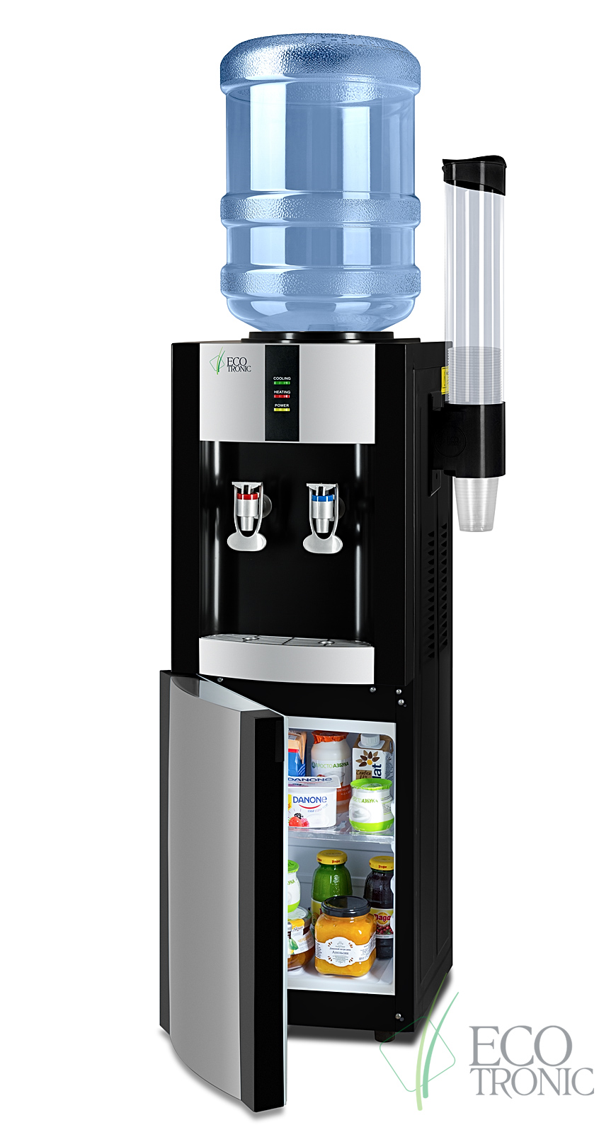 Кулер Ecotronic H1-LF Black c холодильником