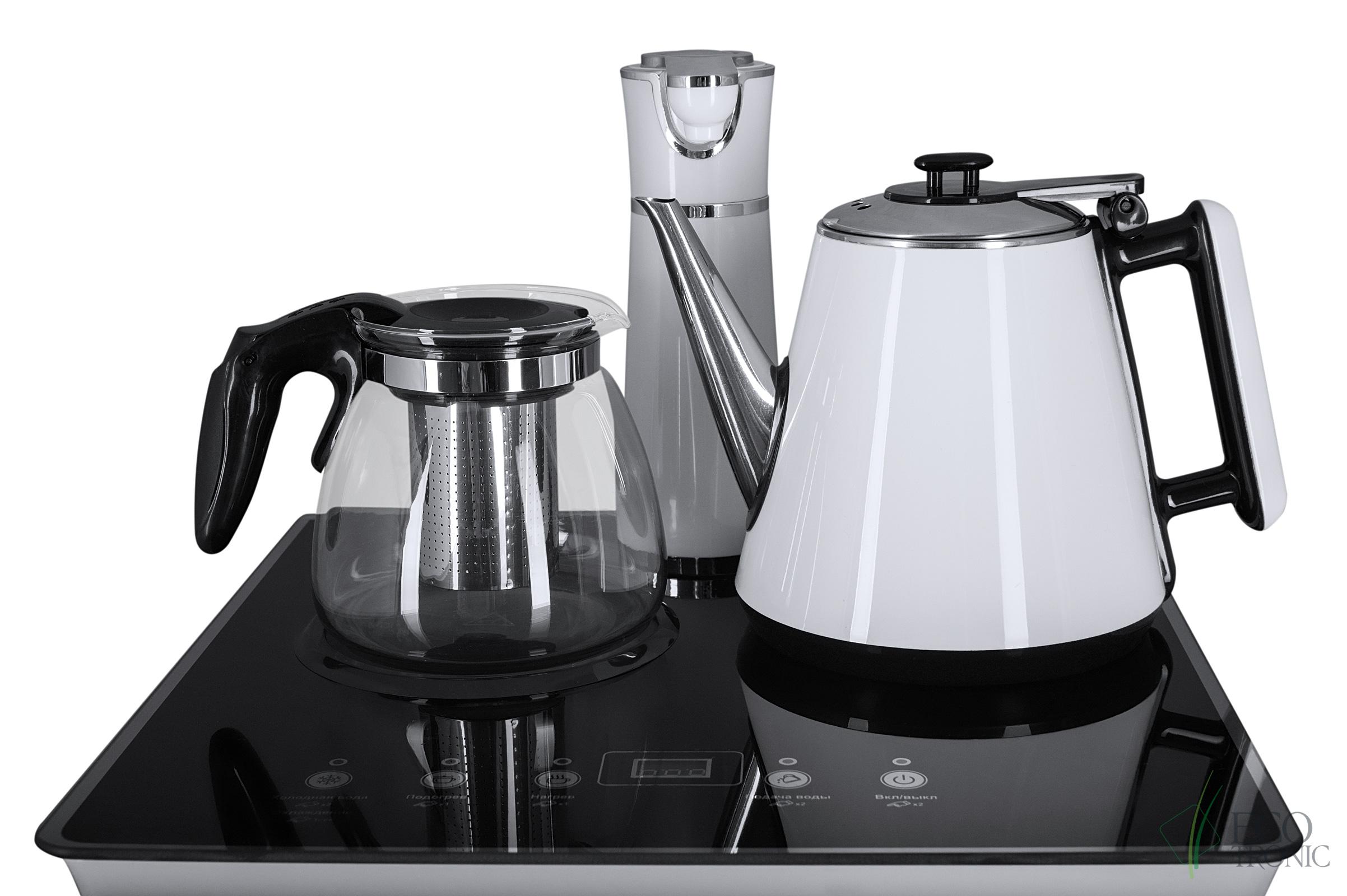Кулер с чайным столиком Тиабар Ecotronic TB4-LE white