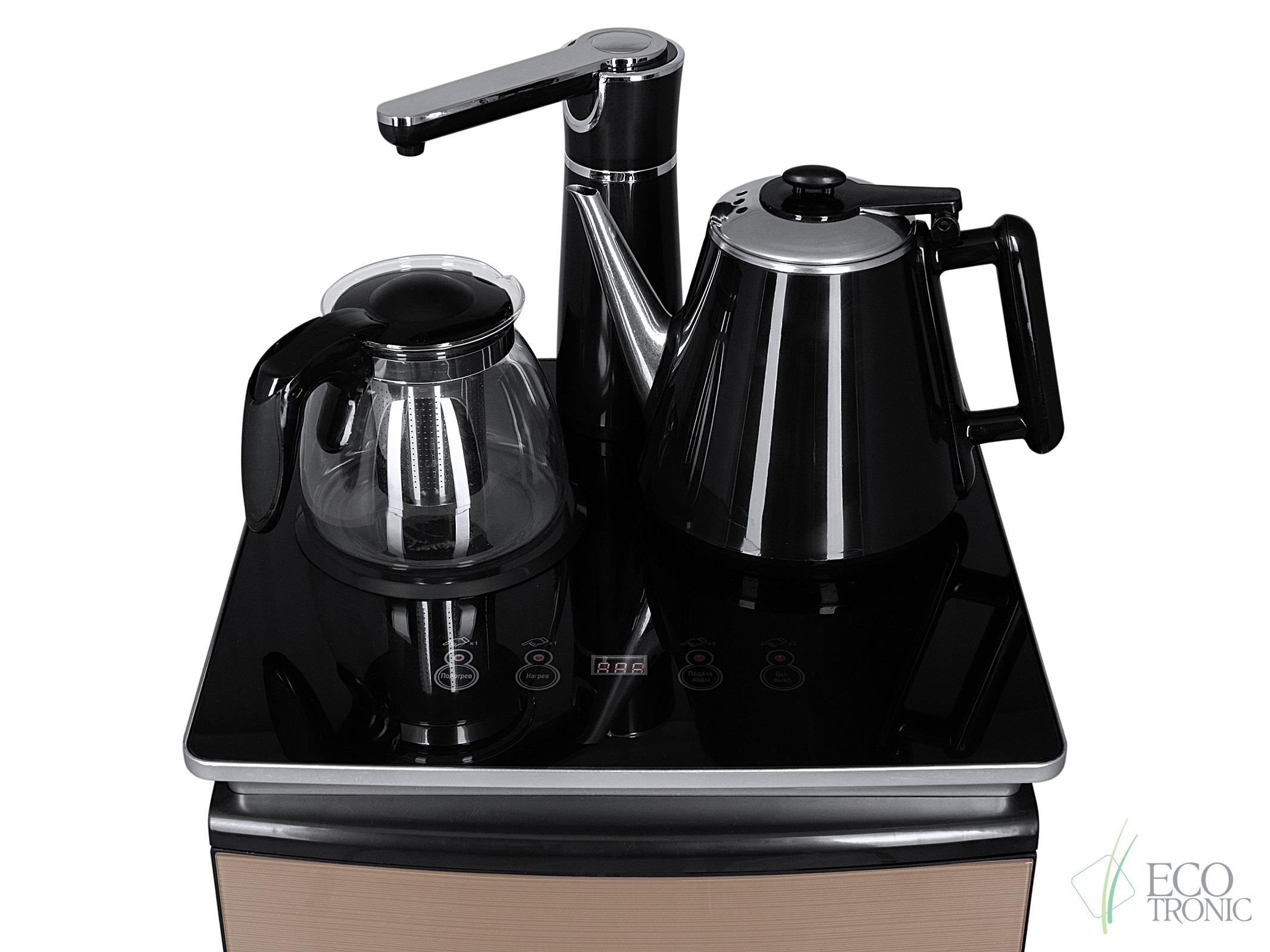 Кулер с чайным столиком Тиабар Ecotronic TB9-LN gold