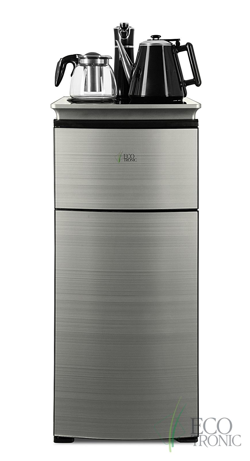 Кулер с чайным столиком Тиабар Ecotronic TB9-LN silver