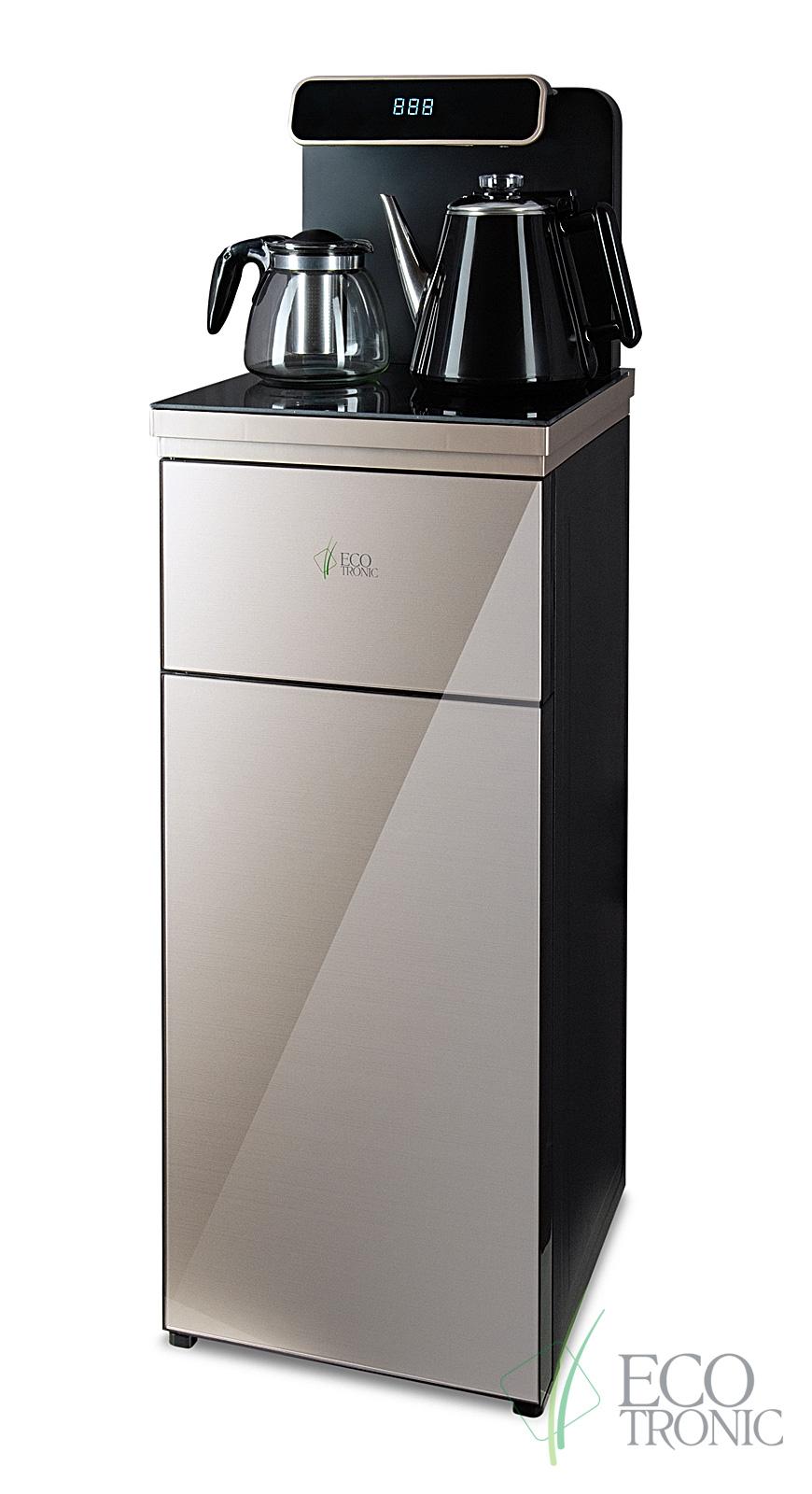 Кулер с чайным столиком Тиабар Ecotronic TB10-LNR gold